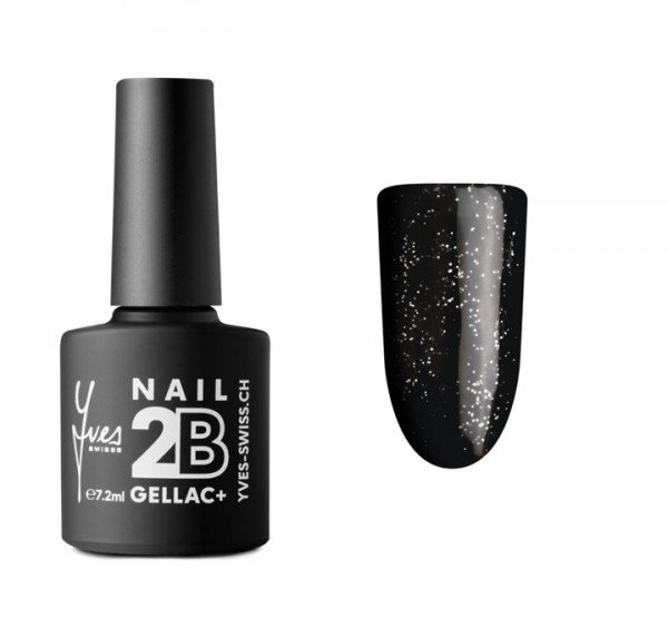 2B Gellac+ No. 052 black silver glitter 7.2 ml