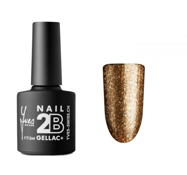 2B Gellac+ No. 062 bronze glitter 7.2 ml