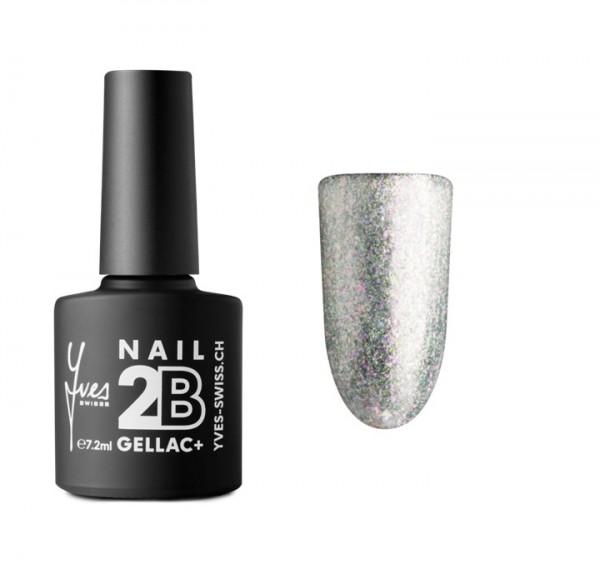 2B Gellac+ No. 051 silver glitter 7.2 ml