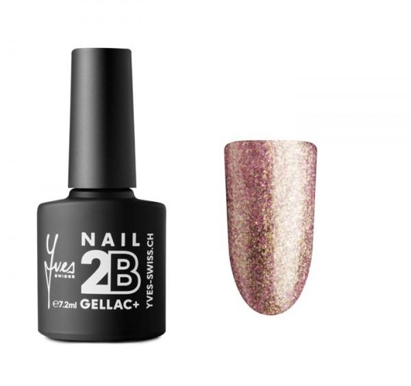 2B Gellac+ No. 056 silver pink glitter 7.2ml