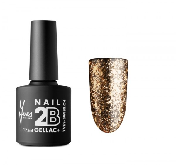 2B Gellac+ No. 067 gold glitter 7.2ml